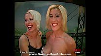 Two lovely blonde babes loves to get their faces jizzed together