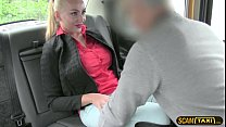 Euro chick with a huge tits trades sex for taxi fare