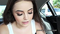 Brunette teen cuttie sucks and fucks in car pornhub video