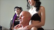 Ulf Larsen pee, flash, wank and orgasm for two girls... thumbnail