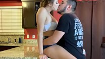 Hot kitchen Fuck - Fucking my sisters boyfriend in Kitchen - Lexi Aaane