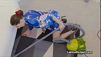Latina wife blows vacuum salesman thumbnail