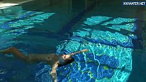 Puzan Bruhova fat teen in the pool
