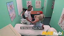 Fake Hospital Fast fucking gives blonde big tits Brit multiple orgasms image