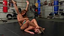 Foot S  School Girl Pin Female Wrestling Humili