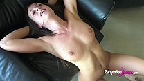 Busty natural Rahyndee James raw fucking POV takes cum facial!'s Thumb
