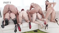 Outnumbered - 4 limitless nymphos vs 2 cocks wi...