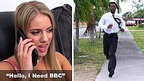 BANGBROS - Candice Dare Kicks Boyfriend Out, Orders Up Some BBC