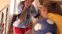 Hot Post-Soccer Training Threesome With 2 Horny Teen Babes And One Big Cock