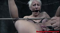 Bigtitted submissive babe gets dildo fucked