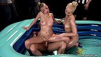 Xxl Sex Tv » mia magma threesome oil fight thumbnail
