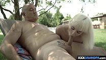 Petite Squirter Teen Riding On An Old Mans Cock