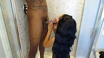 real bhojpuri sex: Playing Around Leads To Asian Giving Head In The Shower thumbnail