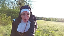 This Nun Gets Her Ass Filled With Cum Before Sh