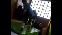 Horny friends having sex in Kenyan bar Image