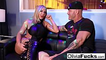 Stacked Blonde Stripper takes on a customer in the VIP's Thumb