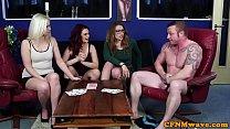 British CFNM babes wanking off lucky cock pornhub video