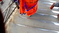Big ASS In Orange Saree ! Image