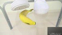 Food crush fetish girl crush a banana Thumbnail