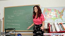 Redhead sex teacher Syren De Mer fucking in the classroom preview image