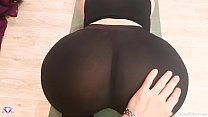 Big Booty with Leggings, POV Blowjob and Sex - Cristall Gloss porn thumbnail