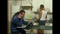 BritishTeen Daughter seduce father in Kitchen f...