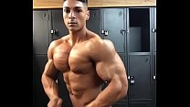 Hot Fitness Model showing his beautiful muscles