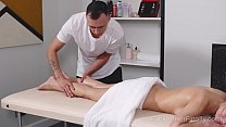 I Fucked Her Finally - Cutie lies down on massage table to get a very pleasant bonus preview image