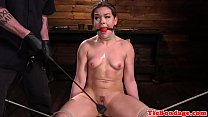 Tied up bdsm sub fingered by gloved maledom - dadcrushes thumbnail