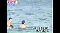 Gabriella fucks a guy in the water