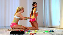 Cute teen friends Samantha Rone and Taylor Reed preview image