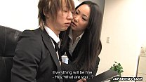 Asian office worker getting fucked and thrashed Preview