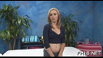 Hot 18 year old gets screwed from behind hard by her massage therapist!