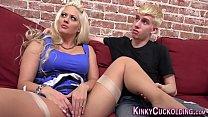 Blonde milf riding bbc