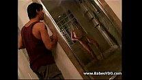 Amuteur couple in bathroom