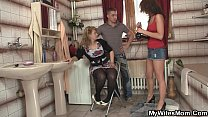 Girlfriends hot mom inlaw takes it from behind Preview