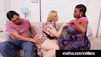 VNALive.com - Sara Jay Has 3Some With Ebony BBW Maserati! porn image