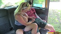 Lucky student fucked by busty blonde MILF  taxi... Thumbnail
