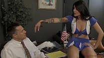 Asian Cheerleader Takes Over the School - Brenna Sparks Femdom Image