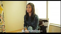 MyVeryFirstTime - Awkward Jade Jantzen takes two cocks for the first time - 9Club.Top