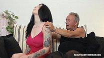 Beautiful MILF and sucks and fuck at grandpas Vorschaubild