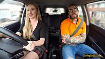 Fake instructor fucks busty minx Georgie Lyall in the car