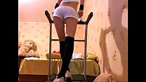 Sexy Russian Brunette WebCam Traning