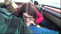 Very Risky Public Car Blowjob And Oral Creampie