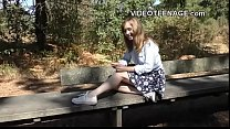 innocent teen does her first porn casting