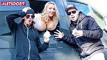LETSDOEIT - Busty Blondie Krystal Swift Gets Nailed On The Road By Jason Steel