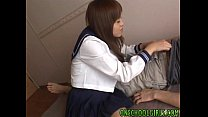 Yume Yumeno Sexy Asian Schoolgirl Plays With Cock And Gives Blowjob