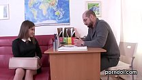 Sensual schoolgirl is seduced and nailed by her older teacher