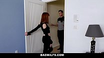 BadMILFS - Slutty Mom Fucks Stepdaughter And Her Boyfriend Preview
