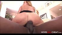 Cheating Hot Big Tits Wife Britney Amber Fucks Black Football Star With Huge Cock thumbnail